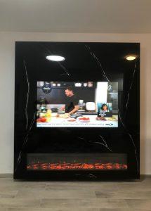 חיפוי קיר טלוויזיה לסלון